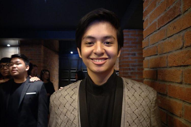 Angga Yunanda saat ditemui dalam jumpa pers dan screening film Sunyi di CGV Grand Indonesia, Thamrin, Jakarta Pusat, Selasa (2/4/2019).