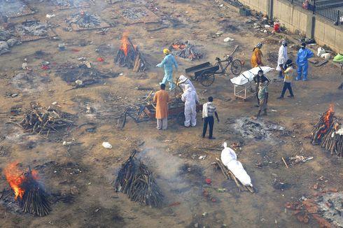 Virus Corona di India Ubah Jalanan Penuh Tumpukan Kayu Pembakaran Mayat