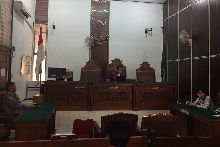 Sidang putusan praperadilan di Pengadilan Negeri Jakarta Selatan terkait kasus tilang elektronik, Selasa (20/8/2019)