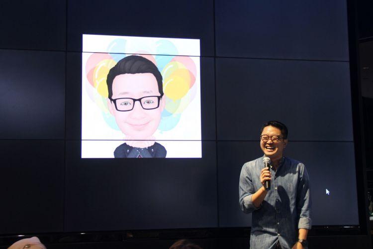 Fotografer David Soong di acara Gadget Story Galaxy S9 di caribou Coffee di Jakarta, Kamis (15/3/2018).