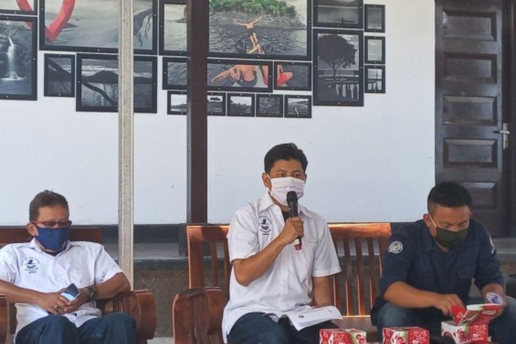 Official SPC Online Paragliding Festival 2021 saat jumpa pers di kantor Disparbudpora Kabupaten Sumedang, Kamis (2/9/2021). AAM AMINULLAH/KOMPAS.com