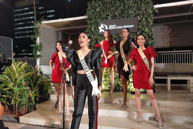5 finalis Miss Grand Indonesia 2020 yakni, Bella Aprilia, Jessika Lagu, Kharisma Aura, Jazmine Rowe dan Nadia Ingrida.