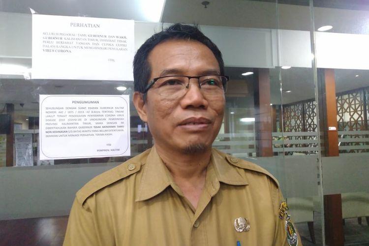 Jubir Tim Gugus Penanganan Covid-19 di Kaltim, Andi M Ishak saat diwawancara Kompas.com di Kantor Gubernur Kaltim, Samarinda, Senin (23/3/2020).