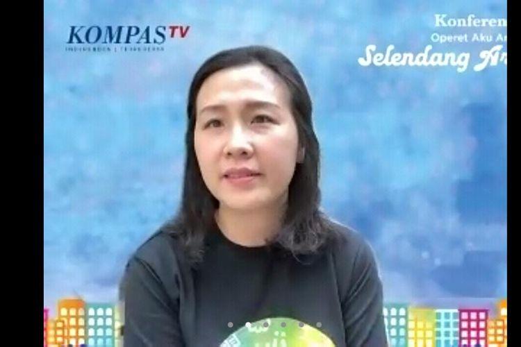 Veronica Tan dalam jumpa pers virtual Operet Anak Rusun Selendang Arimbi Tayang di Kompas TV, Senin (20/7/2020).