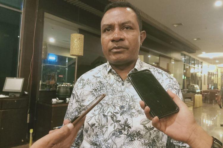 Ketua Tim Percepatan Pemekaran PPS Thomas Eppe Safanpo yang juga Wakil Bupati Asmat.