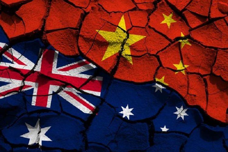 Ilustrasi ketegangan China dan Australia.