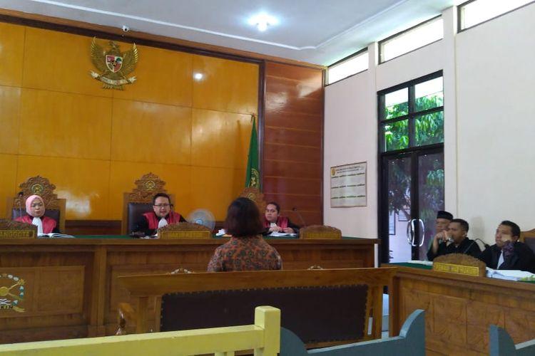 Sidang lanjutan kasus mafia bola di Pengadilan Negeri (PN) Banjarnegara, Jawa Tengah, Senin (20/5/2019).