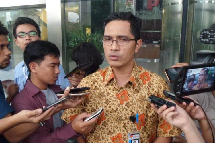 Juru Bicara KPK Febri Diansyah di Gedung KPK Jakarta, Jumat (24/2/2017).