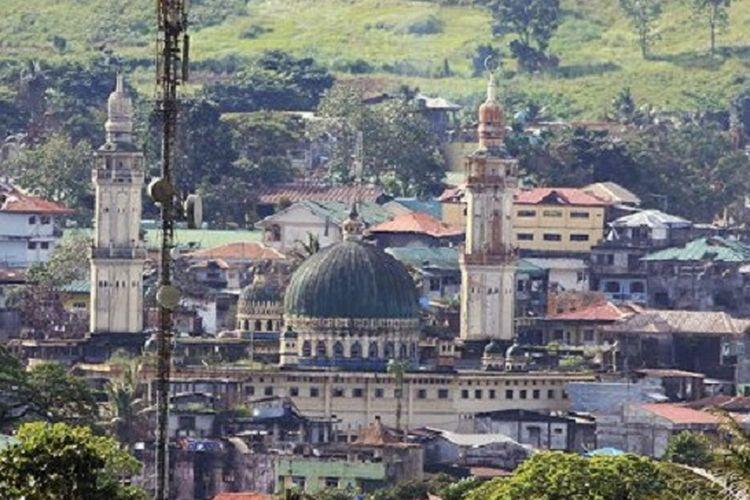 Lanskap deretan bangunan di kota Marawi, Filipina selatan, yang menjadi medan pertempuran antara kelompok Maute dan tentara Filipina, Sabtu (8/7/2017). Marawi merupakan kota yang indah, berada di jantung Mindanao, salah satu pulau terbesar di wilayah selatan Filipina.