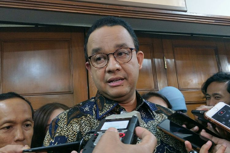 Gubernur DKI Jakarta Anies Baswedan di Balai Kota DKI Jakarta, Kamis (6/2/2020).
