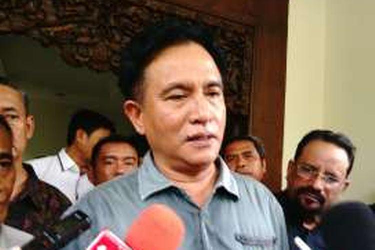 Bakal Calon Gubernur DKI Yusril Ihza Mahendra. Rabu (23/3/2016)