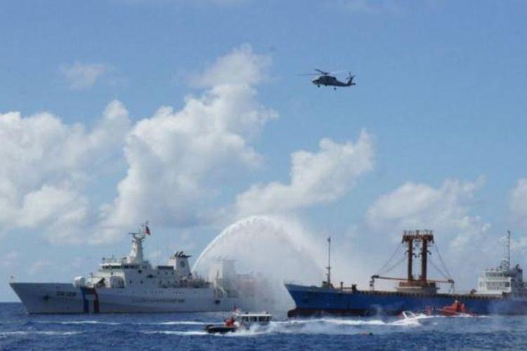 Taiwan menggelar latihan pencarian dan penyelamatan (SAR) di Laut China Selatan, Selasa (29/11/2016), sebagai bagian dari upaya memperkuat klaimnya di perairan vital dan strategis itu.