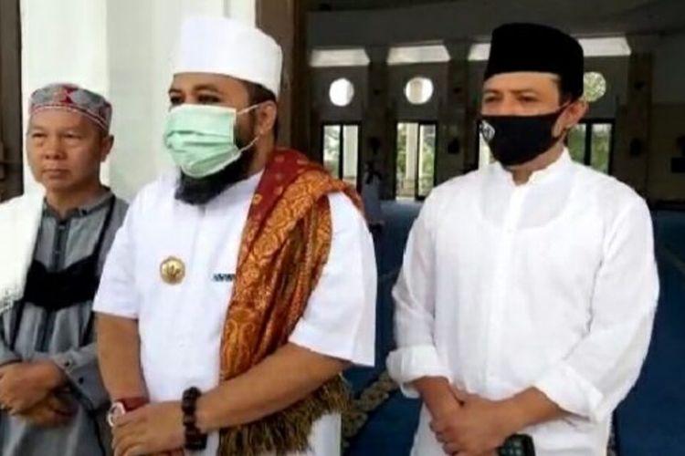 Wali Kota Bengkulu Helmi Hasan didampingi wakilnya Dedy wahyudi