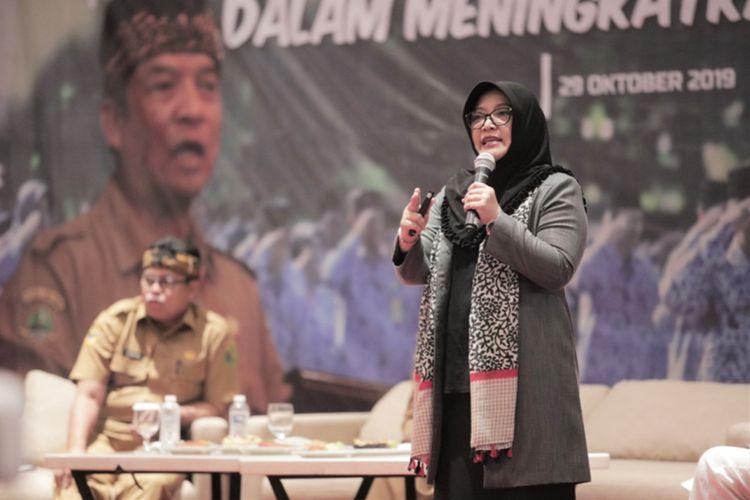 Ketua Pusat Pelayanan Terpadu Pemberdayaan Perempuan dan Anak (P2TP2A ) Kabupaten Bandung Kurnia Agustina.