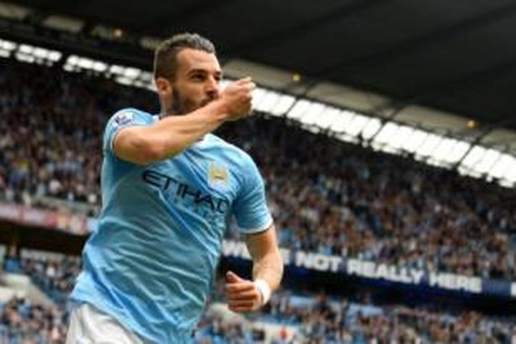 Striker Manchester City, Alvaro Negredo.