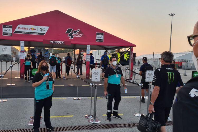 Situasi sirkuit saat balapan MotoGP di tengah pandemi