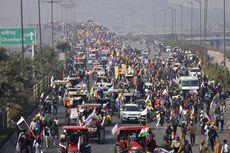 Genap 100 Hari Berdemo Tolak UU Pertanian, Petani India Blokade Jalan
