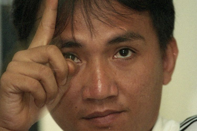 Andi Arief muda, aktivis Solidaritas Mahasiswa Indonesia untuk Demokrasi. Foto diambil pada 1998.
