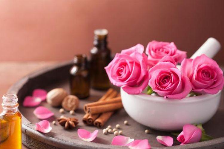 Ilustrasi aromaterapi, aroma, wewangian, bau.