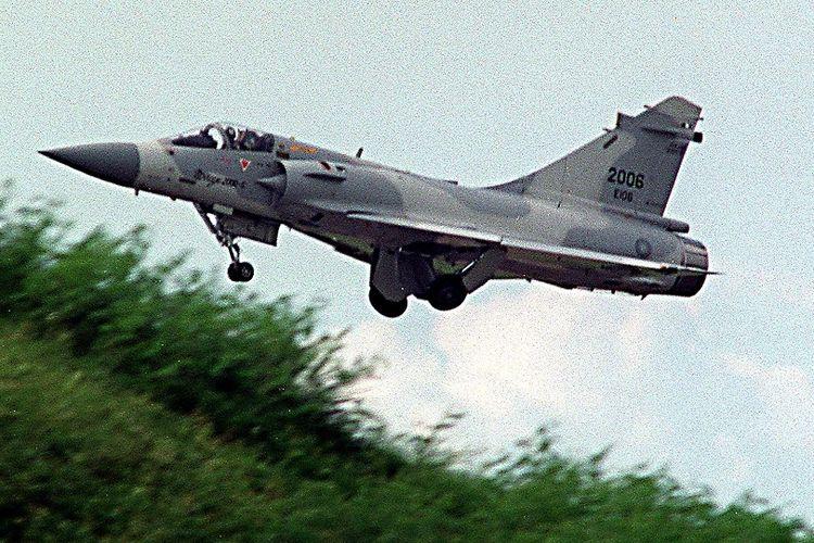 Jet tempur Mirage 2000-5 buatan Perancis dibeli Taiwan pada 1992.