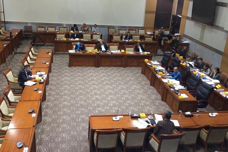 Uji kepatutan dan kelayakan (fit and proper test) calon Hakim Agung Ad Hoc untuk Mahkamah Agung (MA) di DPR, Senayan, Jakarta, Rabu (22/1/2020).