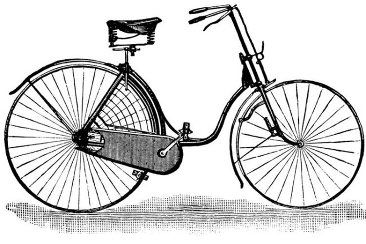 A ladies safety bicycle from 1889. (Image credit: Public domain.)