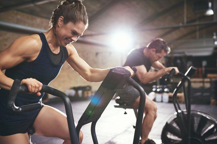 Ilustrasi olahraga di gym