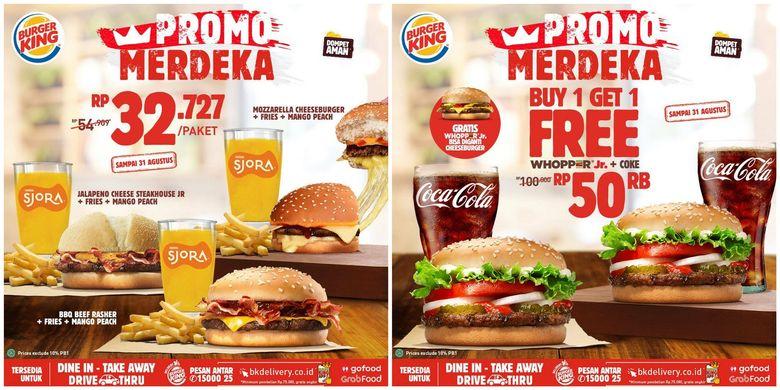 Promo kemerdekaan dari burger king