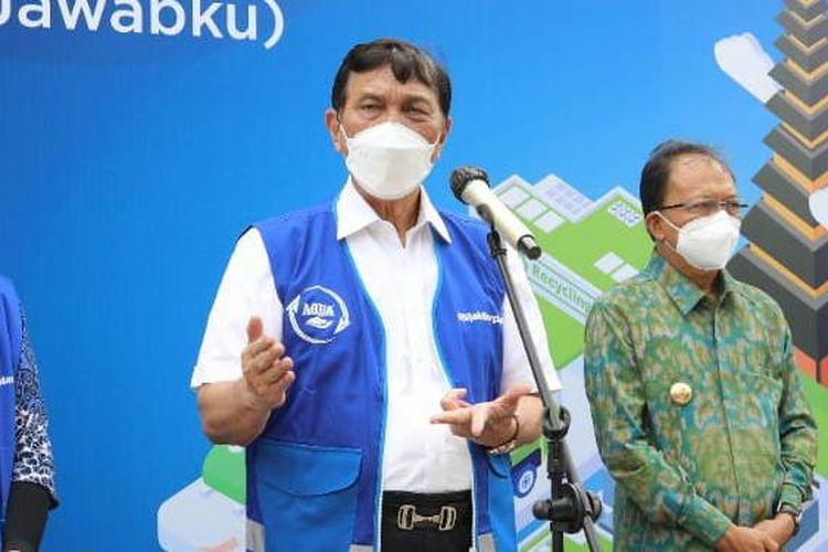 Menteri Koordinator Bidang Kemaritiman dan Investasi Luhut Binsar Pandjaitan saat berkunjung ke Bali, Jumat (10/9/2021).