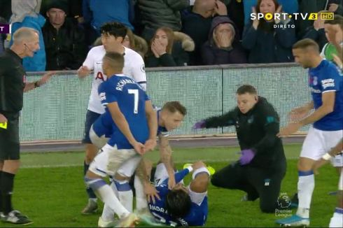 Everton Vs Tottenham, Son Heung-min Menangis Lihat Engkel Gomes Patah