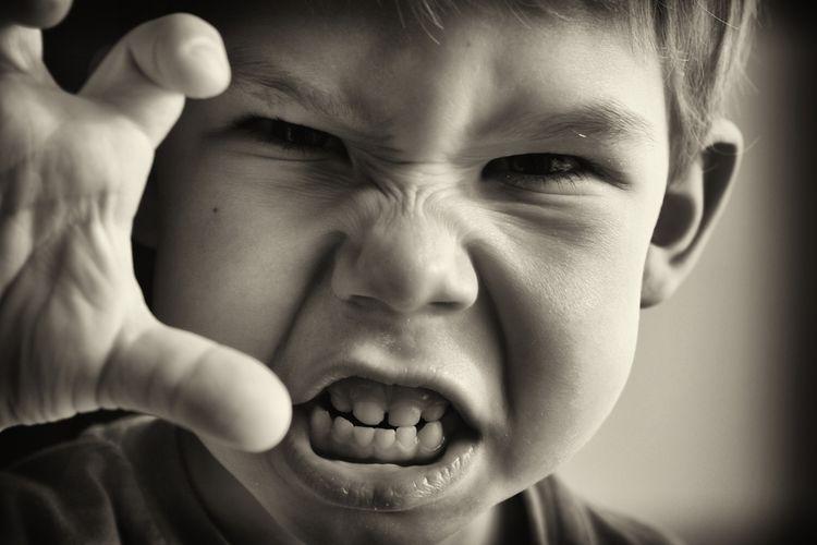 Ilustrasi anak marah