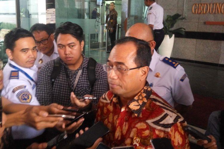 Menteri Perhubungan Budi Karya Sumadi di Jakarta, Rabu (13/2/2019).
