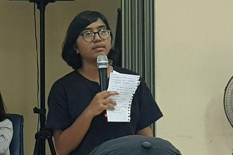 Direktur YLBHI Asfinawati saat memberikan keterangsn pers dalam acara Laporan HAM 2019 dan Proyeksi 2020 di Kantor YLBHI, Menteng, Jakarta Pusat, Rabu (15/1/2020).