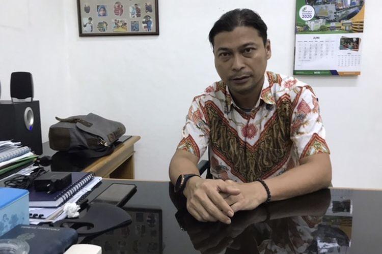 Manager Area 12 Selatan Perumda Pasar Jaya sekaligus Kepala Pasar Minggu, Febry Rozaldi.