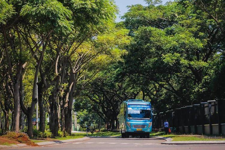 Kawasan Graha Raya seluas 320 hektar di Serpong, Tangerang Selatan.