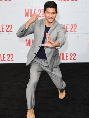 Aktor laga Iko Uwais menghadiri pemutaran perdana film Mile 22 di Westwood Village Theatre di Westwood, California, Jumat (9/8/2018).