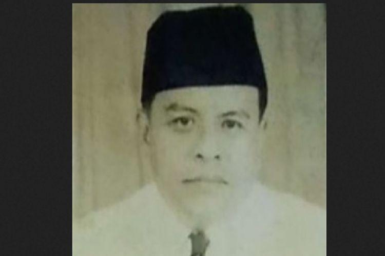 Foto Buya Hamka (Haji Abdul Malik Karim Amrullah) saat menjadi anggota konstituante pada 1956.