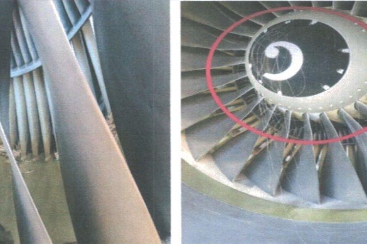 Sisa benang layang-layang yang tersedot mesin pesawat di Bandara Soekarno-Hatta