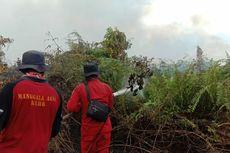 Tim Manggala Agni Kesulitan Kendalikan Api Karhutla di Dumai