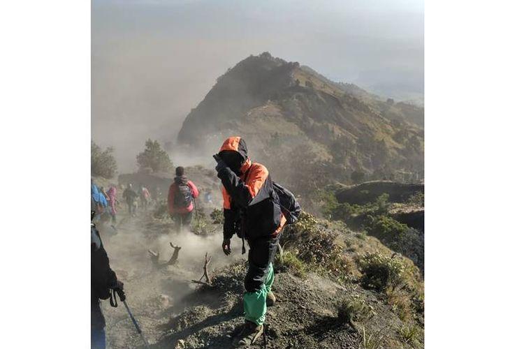 Rizky Prabowo, pendaki yang berada di Gunung Rinjani saat terjadi gempa di Lombok, Minggu (29/7/2018).
