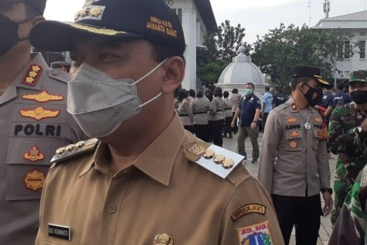 Walikota Jakarta Barat Uus Kuswanto saat ditemui di kawasan Kota Tua, Rabu (12/5/2021).