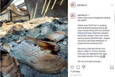 Pabrik Terbakar, Ribuan Sepatu Brand Lokal Patrobas Ludes Jadi Abu