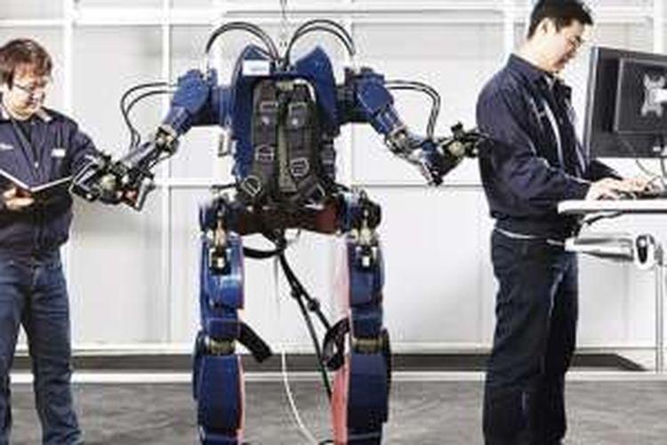 Prototype baju robotika buatan Hyundai
