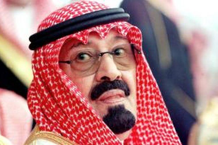 Raja Arab Saudi Abdullah bin Abdulaziz dalam file foto tertanggal 13 Maret 1998.