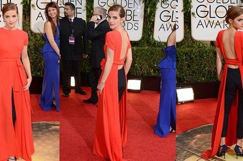 Gaun Emma Watson, Sopan di Depan, Terbuka di Belakang
