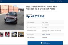 Bea Cukai Lelang Mobil Mini Cooper 40, Harga Mulai Rp 48,5 Juta