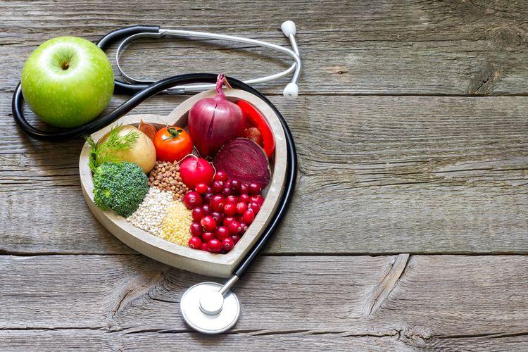Ilustrasi makanan sehat untuk menjaga kolesterol.