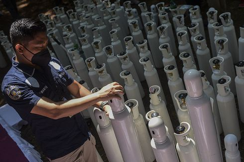 Indonesia Police Probe Illegal Import of Oxygen Cylinders