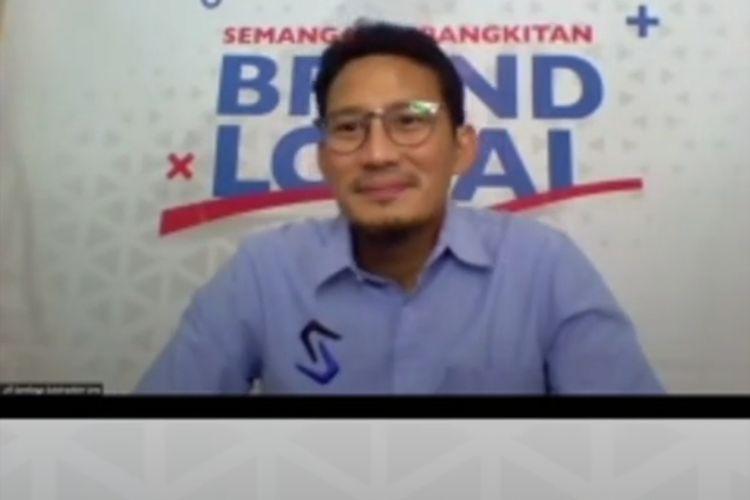 Sandiaga Uno dalam talkshow bertema Semangat Kebangkitan Brand Lokal bersama dengan dr. Tirta, di akun Instagram @ultimateu_id, Rabu (20/5/2020)