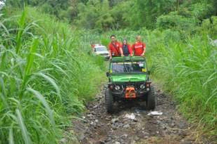 Fun Off Road di Taman Nasional Gunung Merapi, Kabupaten Magelang, Jawa Tengah, awal Januari 2017.